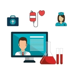 Health care medical technology isolated icon vector