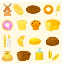 Breads icons vector image