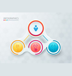Abstract elements for infographic template vector