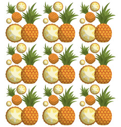 pineapple seamless pattern design vector image