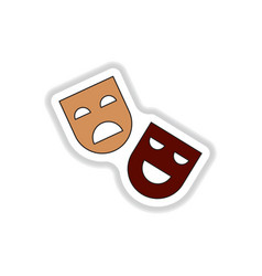 In paper sticker style comedy vector