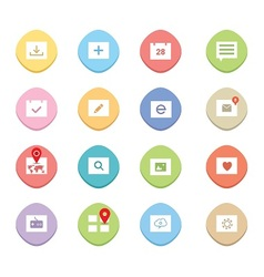 Clean web icons vector