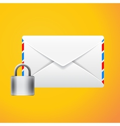 Envelope with padlock isolated vector