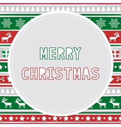 Merry christmas greeting card28 vector
