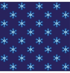 Blue spiny snowflake wrapping vector