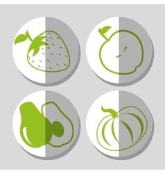 Vegetarian food design vector