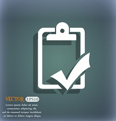 Document grammar control Test work complete icon vector image