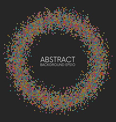 Abstract colorful dotted circle frame vector