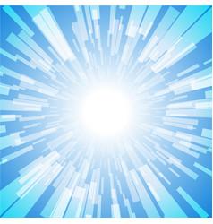 blue burst ray light stripe vector image vector image