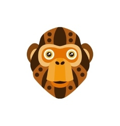 Chimpanzee african animals stylized geometric head vector