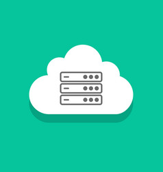 cloud servers technology icon concept computing vector image vector image