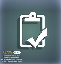 Document grammar control test work complete icon vector