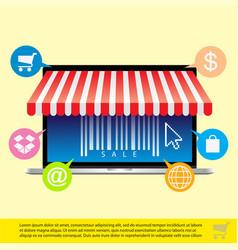 e-commerce vector image vector image