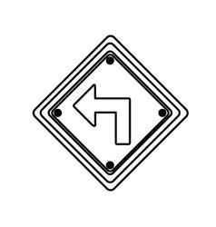 figure arrow sign inside the metal notice vector image vector image