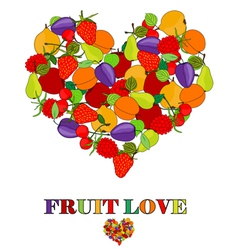 fruit love concept vector image vector image