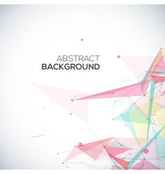 Geometric background with polygonal abstract vector