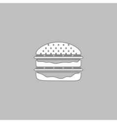 hamburger computer symbol vector image