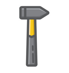 hammer filled outline icon build and repair vector image