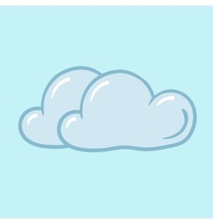 icon cloudy vector image vector image