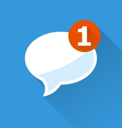 Incoming message - notification icon speech bubble vector image vector image
