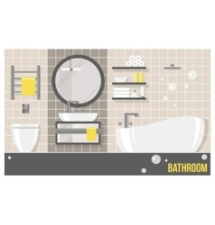 interior beige modern bathroom vector image vector image