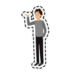 Man talking icon image vector