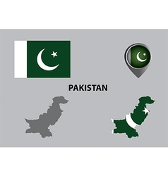 Map of Pakistan and symbol vector image