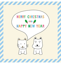 Mc and hny greeting card13 vector