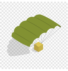 Military parachute isometric icon vector