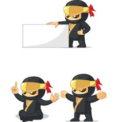 Ninja customizable mascot 13 vector