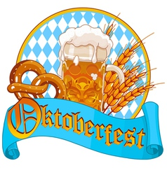 Oktoberfest Celebration design vector image vector image