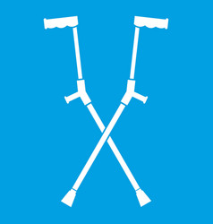 Other crutches icon white vector