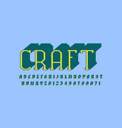 Slab serif extra bulk font in the sport style vector