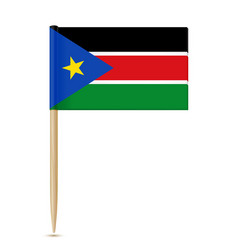 South sudan flag toothpick 10eps vector