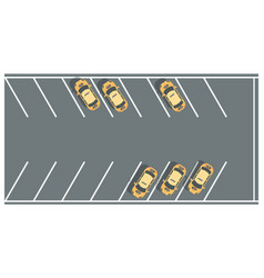 Taxi parking lots - modern colorful vector