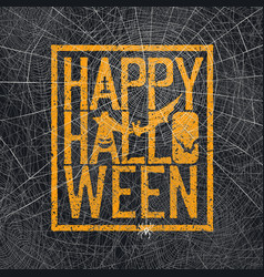 Text spider web background vector