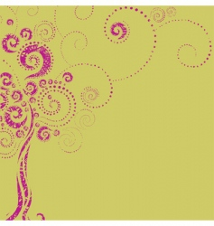 tree shape from twirls vector image