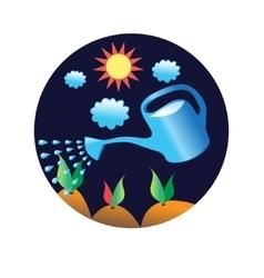 Vegetable garden and watering vector
