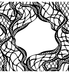 Lace ornamental background with abstract waves vector