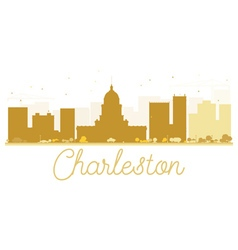 Charleston city skyline golden silhouette vector