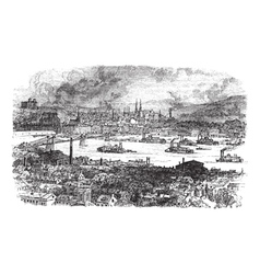 Pittsburgh vintage engraving vector