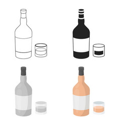 Rum icon in cartoon style isolated on white vector