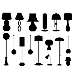 Desk and room lamps vector