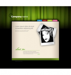 Website template with photo vector