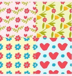 Nature flower seamless pattern vector