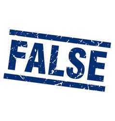 Square grunge blue false stamp vector