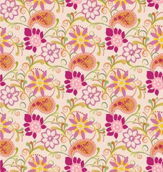 Floral pattern with paisley vector