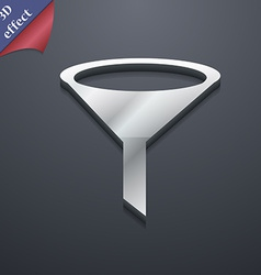Funnel icon symbol 3d style trendy modern design vector