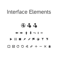Set of interface elements ui kit icons pictograms vector
