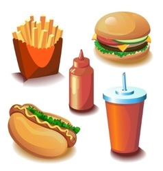 Fast food collection vector